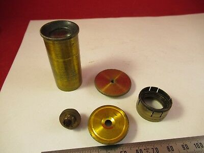 For Parts Lot Antique Brass Vintage Microscope Parts As Pictured &Ft-4-102