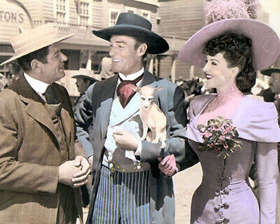 "Bob Burns Randolph Scott Gypsy Rose Lee 1944 8X10"" Hand Color Tinted Photo"