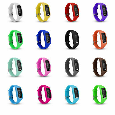 New LCD Sports Wrist Watch Bracelet Pedometer Step Walking Calorie Counter