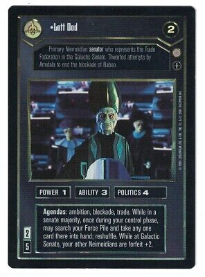 Star Wars SWCCG Talon Karrde Foil Reflections III 3 Rare Card Collection