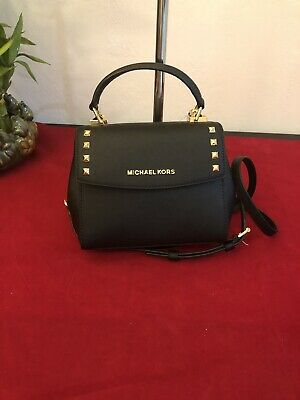 15804aeca9d9 Michael Kors Karla Mini Crossbody Saffiano Leather Convertible Bag Black  $298