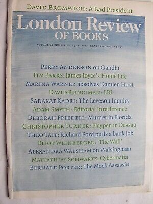 LONDON REVIEW OF BOOKS July 2012 James Joyce Damien Hirst Obama Spencer Perceval