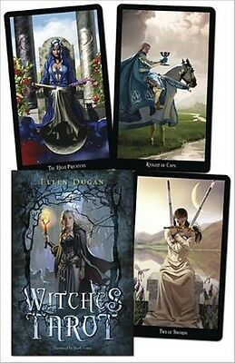 Witches tarot deck & book by Ellen Dugan divination oracle cards, wicca, pagan
