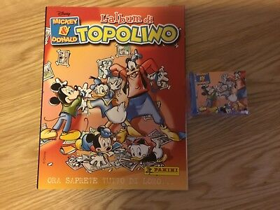MICKEY & DONALD TOPOLINO STICKER ALBUM WITH ALL STICKERS (Not Inserted)By PANINI
