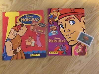 2 x HERCULES STICKER ALBUMS COMPLETE WITH ALL STICKERS (Not Inserted) By PANINI