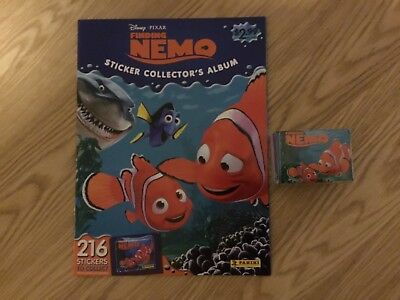FINDING NEMO STICKER ALBUM COMPLETE WITH ALL STICKERS (Not Inserted) By PANINI