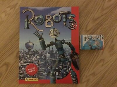 ROBOTS STICKER ALBUM COMPLETE WITH ALL STICKERS (Not Inserted) By PANINI