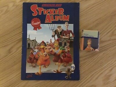 CHICKEN RUN STICKER ALBUM COMPLETE WITH ALL STICKERS (Not Inserted) By FUTERA