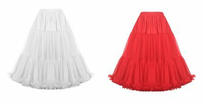 "Dancing Days full petticoats / skirts - 1 x red 1 x white - multi size & 26"" L"