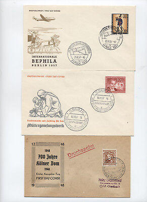 Group of 3 1940s and 1950s Germany / Berlin first day covers [y2535]