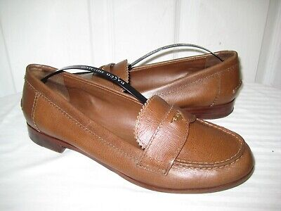 7ec7d4e82c2 TORY BURCH PENNY Loafer Low Heel Brown Leather Size 7.5 -  17.99 ...