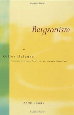 Bergsonism, Very Good Condition Book, Deleuze, G, ISBN 9780942299076