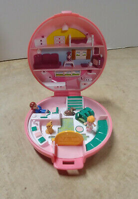Vintage Polly Pocket Button's Animal Hospital Vet 1989 Bluebird *100% Complete*+