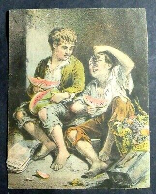 1800'S Victorian Trade Card Dr Harris Remedy Summer Cordial And Cramp Cure