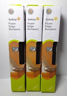 Three 4-Packs Safety 1st Foam Edge Bumpers Adhesive Mount for Tables/Counters