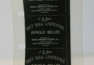 16mm film 1927 BRAY  Walter Lantz  Pete the Pup HOT DOG Cartoons 'JUNGLE BELLES'