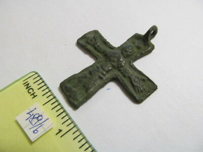 Ancient bronze cross with crucified Vikings 10-11 АD № 489/6(restoration)