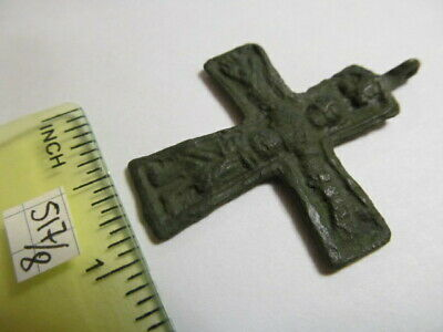 Ancient bronze cross with crucified Vikings 10-11 АD № 517/8(restoration)