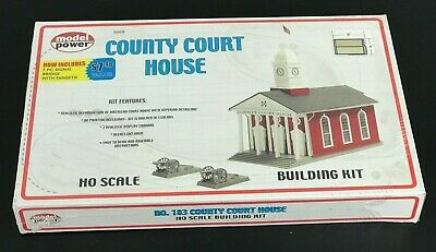 Model Power 183 HO Scale County Court House With Cannons Building Kit NEW SEALED