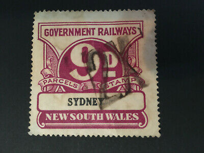 9d NSW Government Railways Parcels Stamp Label SYDNEY