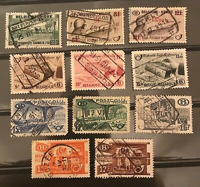 Belgium postage stamps lot of 11 different old.           Mr