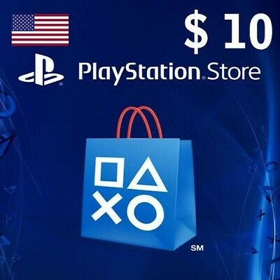 Playstation Network $10 USD 10 Dollar PSN US Store Card - Digital Code PS4 PS3