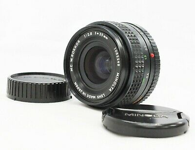 [Excellent++++] Minolta MC W.Rokkor 35mm F/2.8 NF Lens from Japan