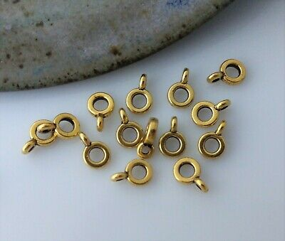 Antique Gold Bail Beads 10/50pc Bracelet Hanger Sliding Metal Alloy Bail BL101