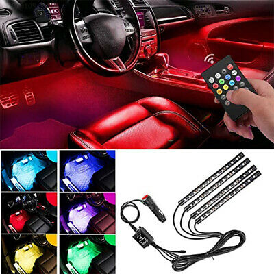 2138 LED Strip 4Pcs Lights Strips RGB Remote Control LED String Durable