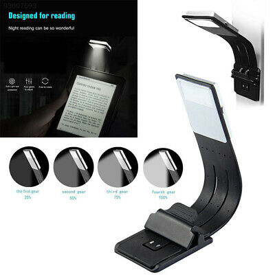 6E76 Book Lamp USB Rechargeable Reading Light 4Modes LED LED Clip Booklight