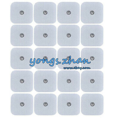 Snap-on Replacement Electrode for Electrode Massager 20/40 pcs Pads  (5 × 5cm)
