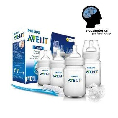 Philips AVENT Classic Newborn Starter Set SCD371/00 - Bottles, Brush, Teats