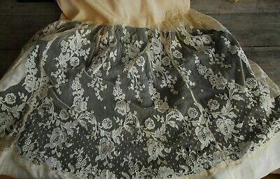 Antique Lace And Silk Flower Girl Dress Beautiful Vintage Bridesmaid