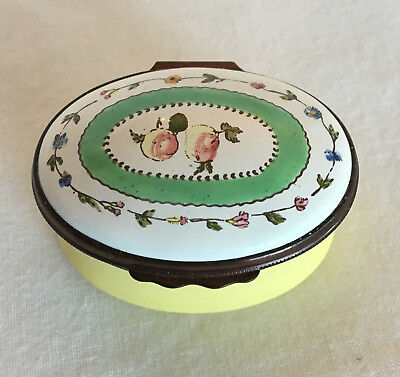 Halcyon Days Fruit & Flowers Trinket Box