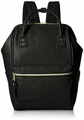 Anello Japan Black Small Size Rucksack Laptop Backpack Synthetic Leather 180085
