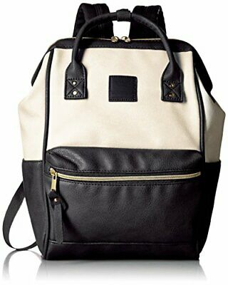 Anello Japan Ivory Black Small Size Rucksack Backpack Synthetic Leather 180088