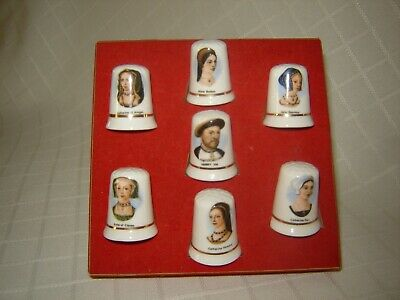 Collectable Bone China Thimbles set of seven