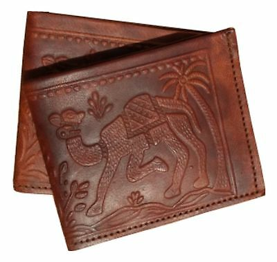 5 Peices Handmade Bifold Pure Leather Brown Vintage Wallet For Mens Gents Boys