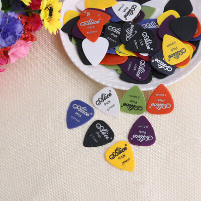 100Pcs Lightweight 6 Thickness Assorted Acoustic Electric Picks Plectrum USA