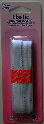 BIRCH WHITE KNICKER ELASTIC - 2.5m by 15mm