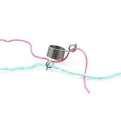 Needle Metal Finger Handwork Yarn Knitting Guide Ring Woven Sewing Tool FW