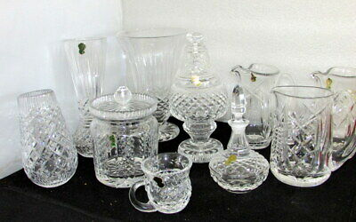 Waterford Crystal Vintage Irish Cut New Old Stock 13 Pc Mixed Estate Lot