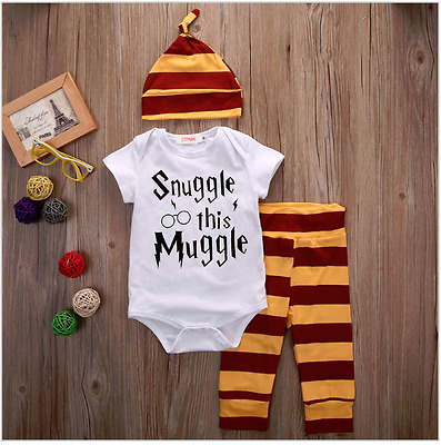Brand New Harry Potter Snuggle This Muggle 3 Piece Set FREE POSTAGE