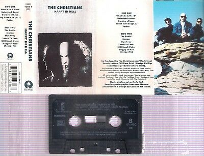 THE CHRISTIANS Happy in hell    RARE SPANISH  CASSETTE        SPAIN