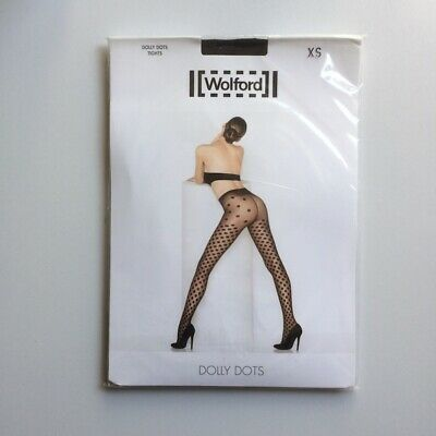 Taille XS Collant WOLFORD VALENCIENNE coloris Beluga Tights.