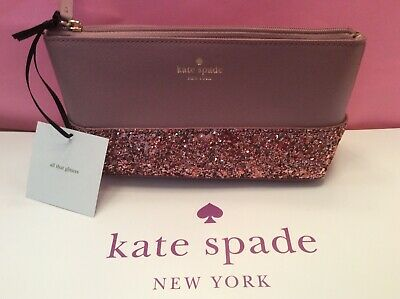 outlet store c2f7c 5b145 NEW KATE SPADE Little Shiloh Greta Court Cosmetic Bag Pouch Makeup Dusty  Peony