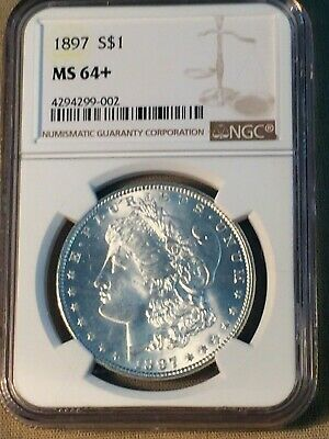 1897 Morgan Dollar MS 64+ NGC