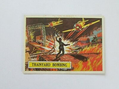 1965 Topps Battle Card #45 Trainyard Bombing *Vintage* *Rare*