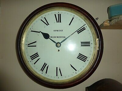 Lovely Big Fusee 8 Day Wall Clock