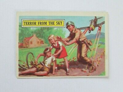 1965 Topps Battle Card #35 Terror From The Sky *Vintage* *Rare*